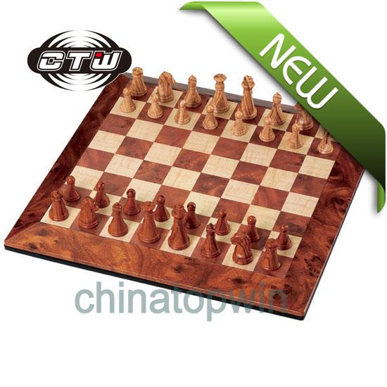 Magnetic Mahogany Chess,TOYS