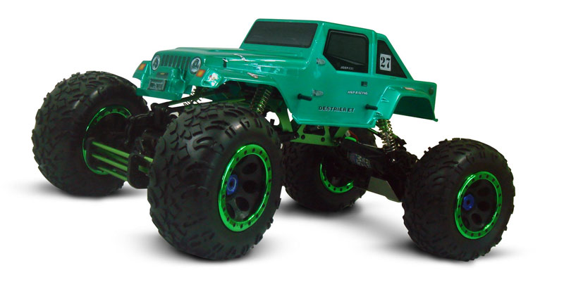 1/8th Scale Electric Powered Off Road Climbing Jeep