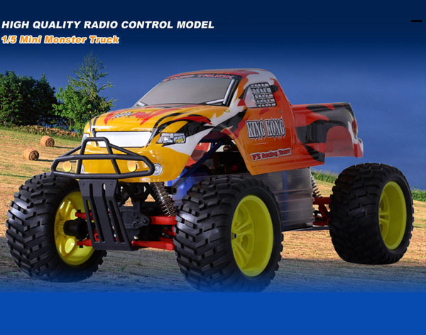 1/5 30cc Gas Powered 2WD MonsterTruck with FUTABA 2PY radio+ GWS 22KG
