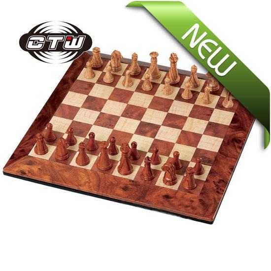Magnetic Mahogany Chess