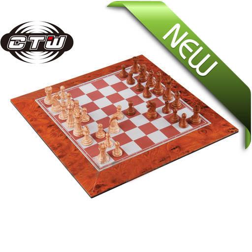 Non magnetic Mahogany Chess