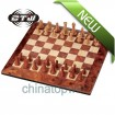 Magnetic Mahogany Chess,TOYS